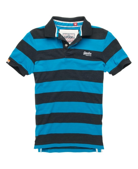 superdry stripe jersey polo shirt herren polo shirts. Black Bedroom Furniture Sets. Home Design Ideas