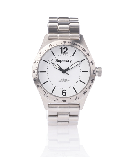 Superdry Battalion Steel Watch White