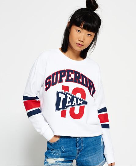 Se Superdry Superdry Kort Semester sweatshirt med rund hals ved SuperDry
