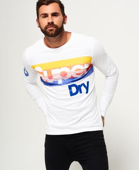 weiß Superdry Langärmeliges Mountaineer T-Shirt mit Einsatz