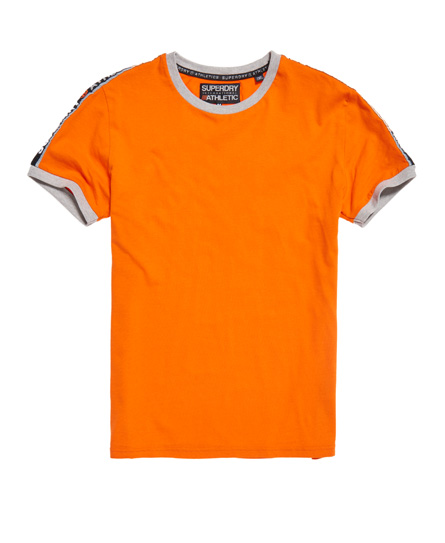 superdry stadium orange Superdry Stadium Ringer T-Shirt