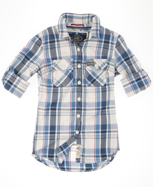 Superdry Lumberjack Twill Shirt Blue