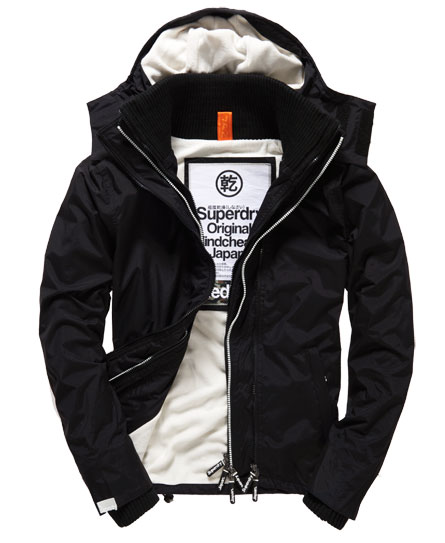 superdry pop zip hooded arctic windcheater jacke herren. Black Bedroom Furniture Sets. Home Design Ideas
