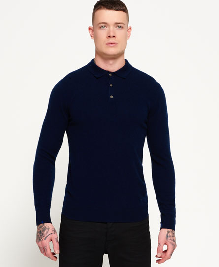 superdry leading cashmere polo pulli herren idris pullover. Black Bedroom Furniture Sets. Home Design Ideas