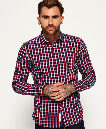 Superdry Tailored Oxford-Hemd Rot
