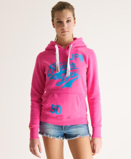 Womens Stacker Hoodie In Bubblegum Pink Superdry