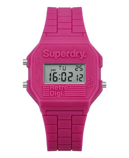 Superdry Mini Retro Digi horloge met blokkleuren