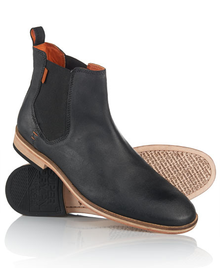 mens meteor chelsea boots in black superdry. Black Bedroom Furniture Sets. Home Design Ideas