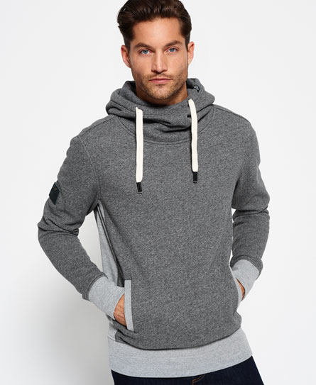 dark grey marl Superdry Surplus Goods Slouch Hoodie