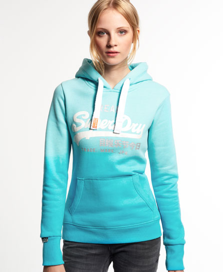 superdry vintage logo duo dip hoodie damen hoodies. Black Bedroom Furniture Sets. Home Design Ideas