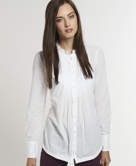 Superdry Winter Pierrot Blouse White