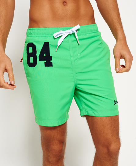 palm green Superdry Premium Water Polo Shorts