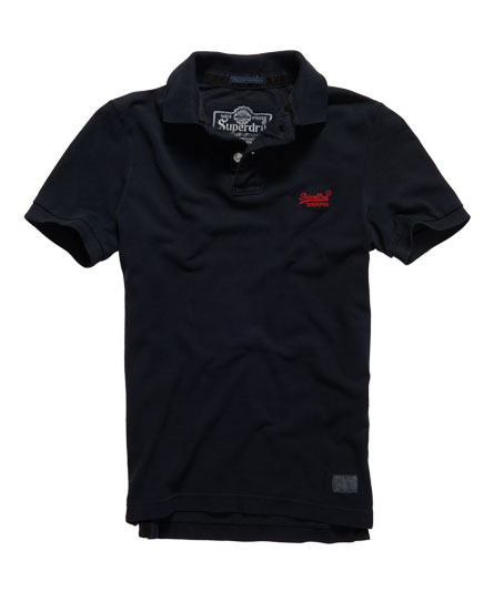 Superdry Classic Pique Polo Total Eclipse