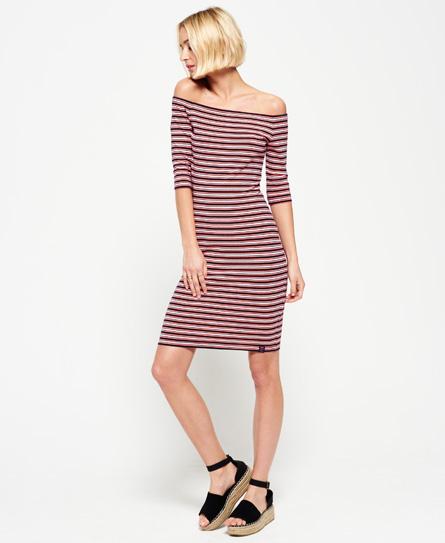 Superdry Breton Bardot Stripe Dress