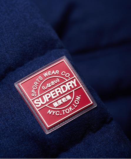 Superdry Melierte Steppjacke mit Knebelknöpfen
