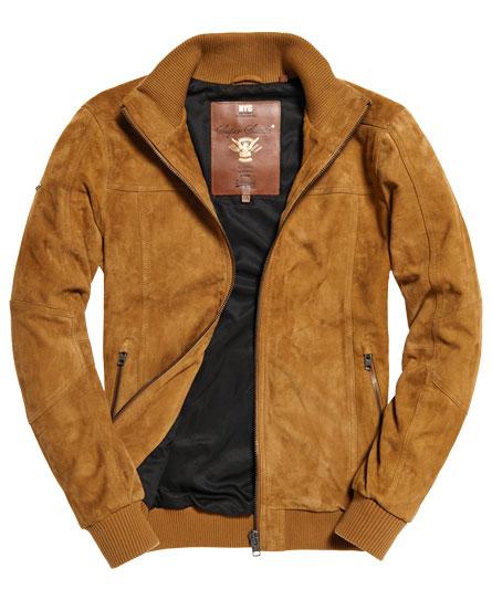 superdry blouson bombardier en daim hutch vestes pour homme. Black Bedroom Furniture Sets. Home Design Ideas