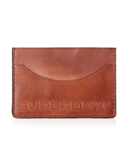 棕色皮 Superdry 高端卡包