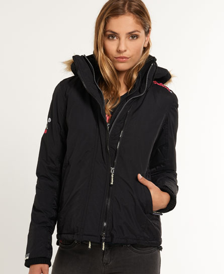 Superdry Quilted Fur Windcheater Jacket Black