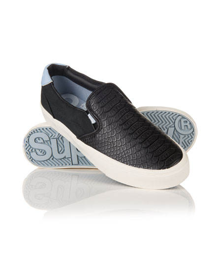 black python Superdry Dion Slip On Sneaker