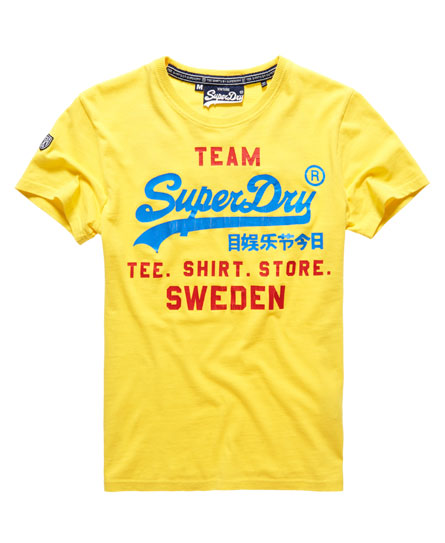 superdry vintage logo euro schweden t shirt herren t shirts. Black Bedroom Furniture Sets. Home Design Ideas