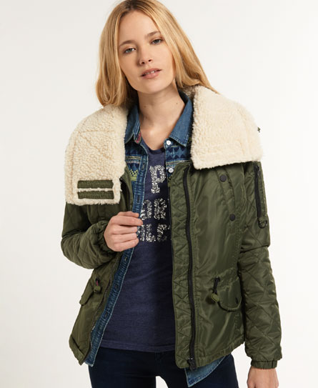 Womens - Flight Jacket in Khaki | Superdry