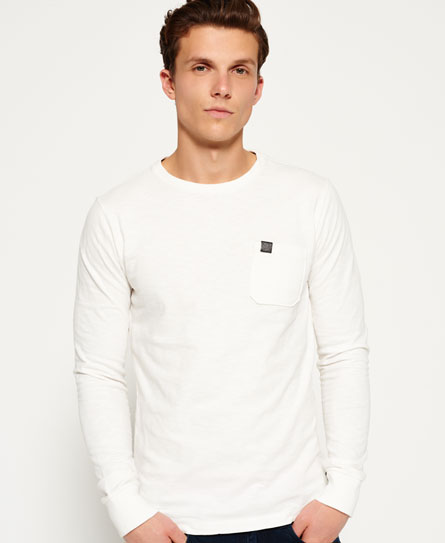 tribeca white Superdry Surplus Goods Pocket T-shirt