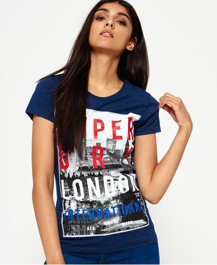 London T-Shirt mit großem Fotoprint