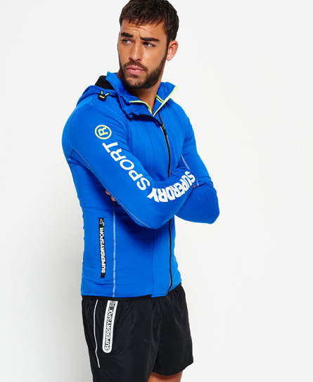 Superdry Sports Athletic Panel Kapuzenjacke