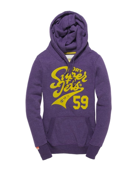 Superdry Super Jets Hoodie Purple