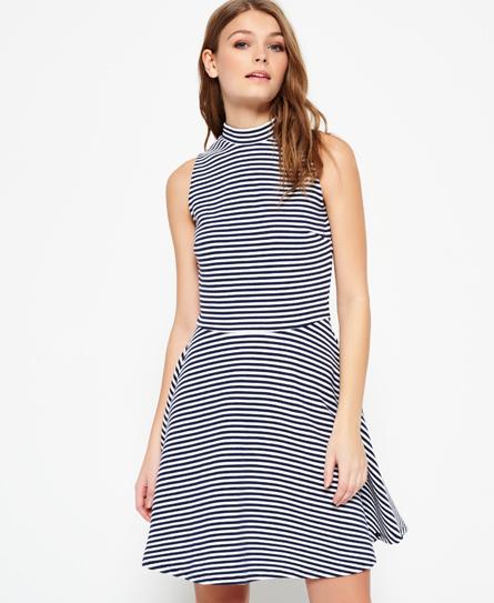 marineblau/weiß gestreift Superdry Erin Racer Kleid