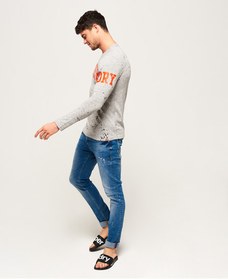 Superdry Super Splatter Long Sleeve T-Shirt