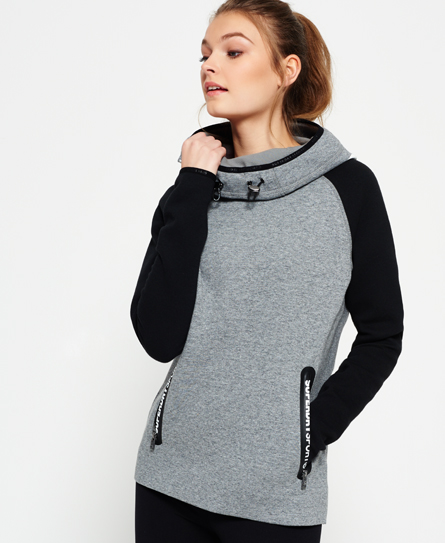 speckle charcoal/black Superdry Sweat à capuche Gym Tech Cowl