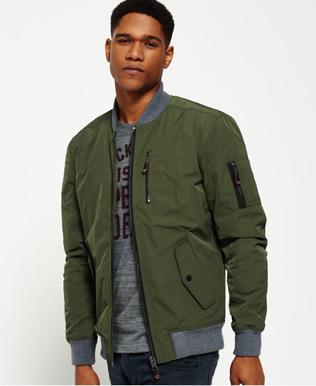 Mens - Wax Flight Bomber Jacket in Navy | Superdry