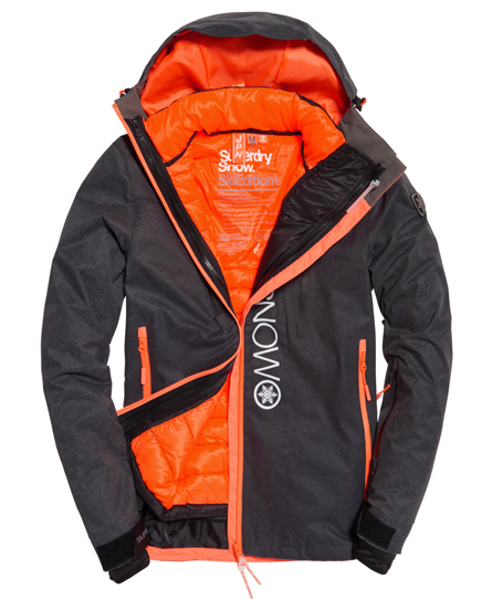 scratch black/ fluro orange Superdry Super SD Multi Jacke