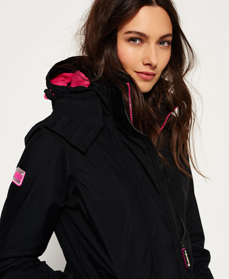 noir/rose punk lurex Superdry Veste Pop Zip Hooded Arctic Windcheater
