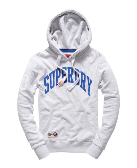 Superdry Mens Angle Athletics Hood in Ice Marl