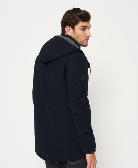 Superdry Glacial Hooded Wool Parka Jacket