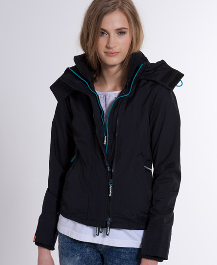 Superdry Hooded Tech Windcheater Black