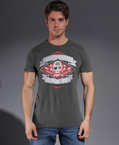 Superdry Rocker Pirates t-shirt Black