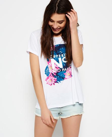 Boxed Tropical Boyfriend T-Shirt