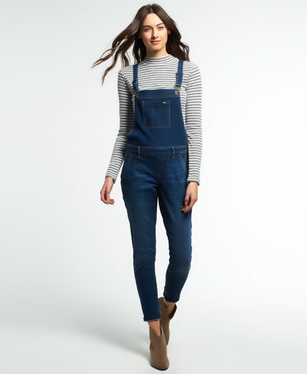 midnight repaire Superdry Emmins Dungarees