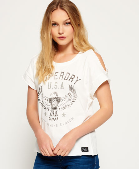 winter white Superdry Eagle T-Shirt