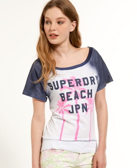 Superdry Palm Tree T-shirt Blue