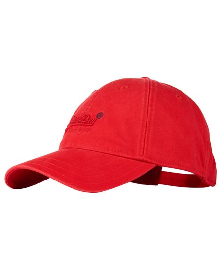 red Superdry Orange Label Solo Cap