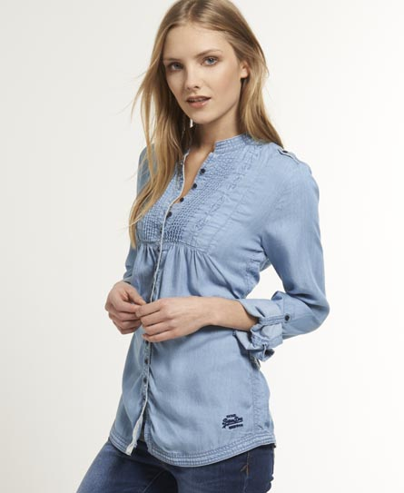 Superdry Pierrot Denim Shirt - Women's Shirts