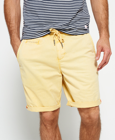 canary yellow Superdry International Sun Scorched Chino Shorts