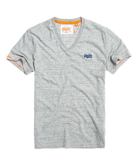 Superdry Orange Label Vintage T-Shirt mit Stickerei und V-Ausschnitt