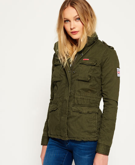superdry veste militaire winter rookie vestes et manteaux pour femme. Black Bedroom Furniture Sets. Home Design Ideas