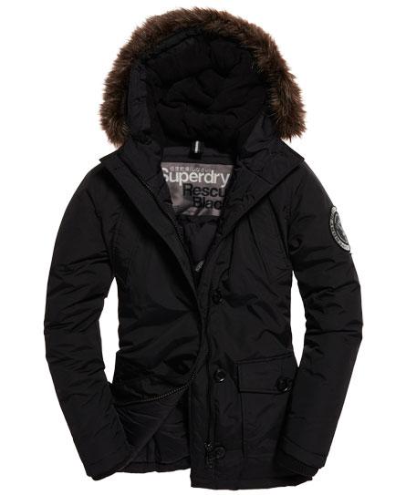 Superdry everest winterjacke schwarz
