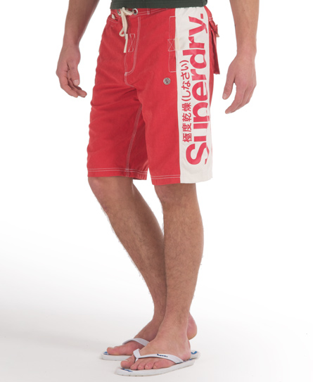 Superdry Panel Boardshort Red